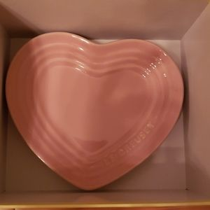 Le Creuset Kitchen - Le creuset pink heart mug and saucer